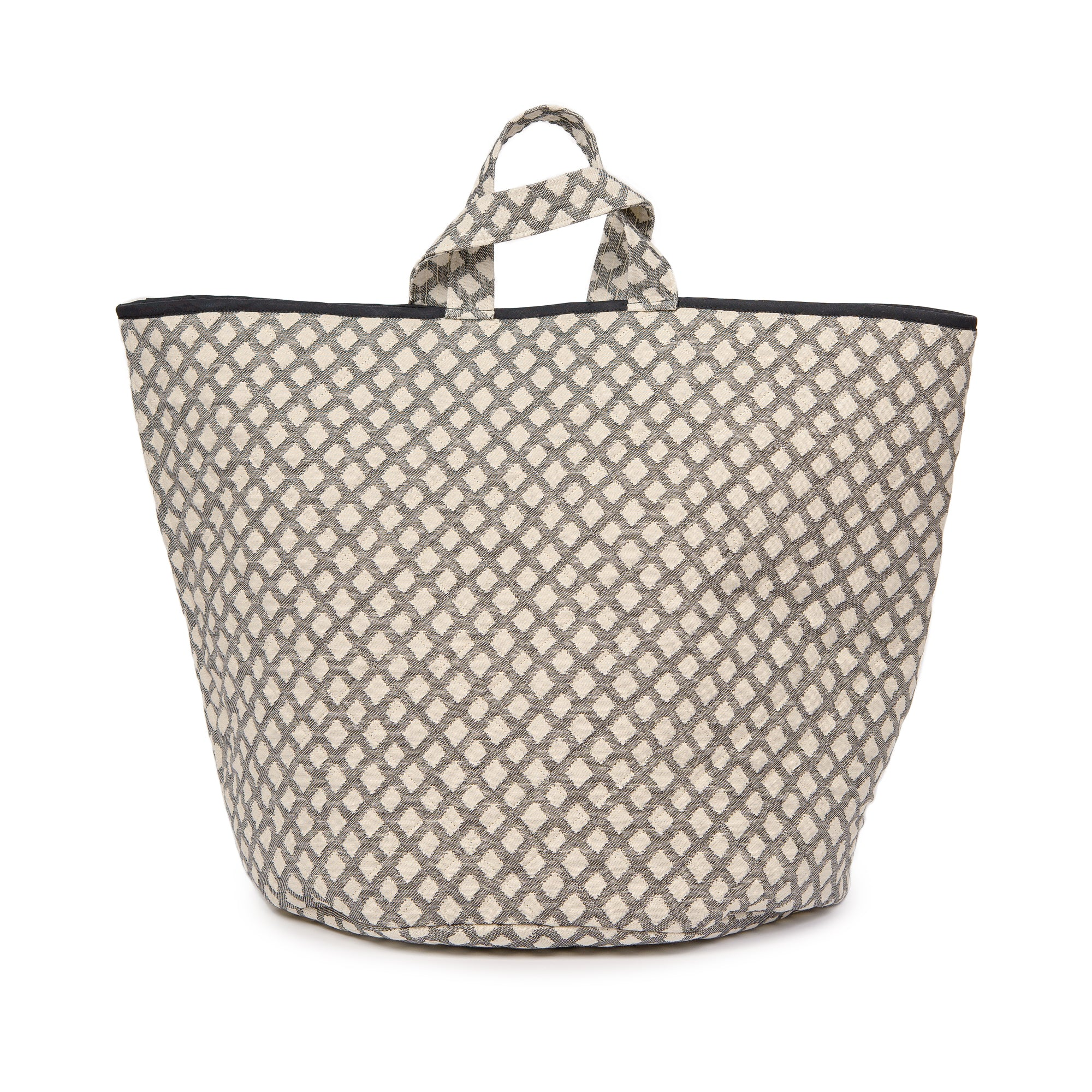 Cadogan Check Storage Basket Black