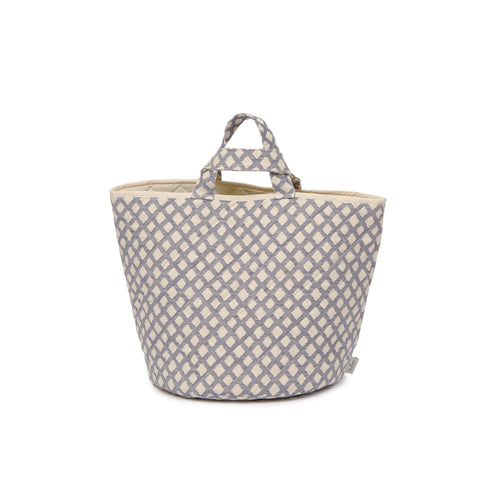 Cadogan Check Storage Basket Navy