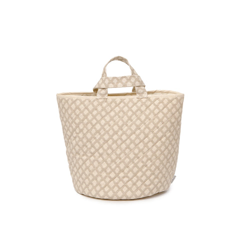 Cadogan Check Storage Basket Mushroom