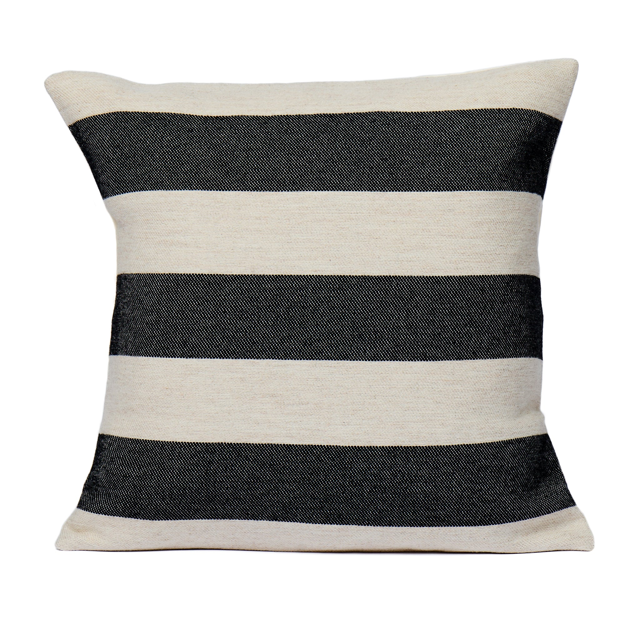 Fastnet Stripe Cushion Black