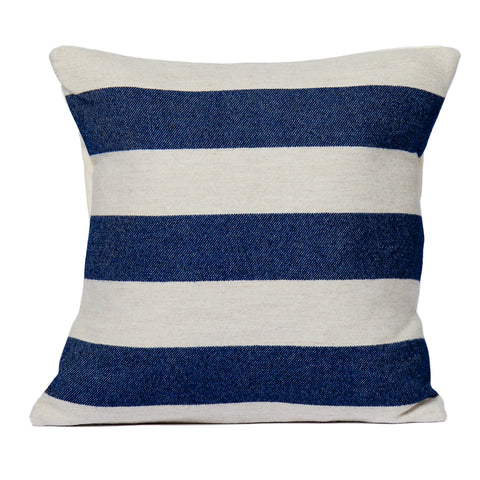 Fastnet Stripe Cushion Navy