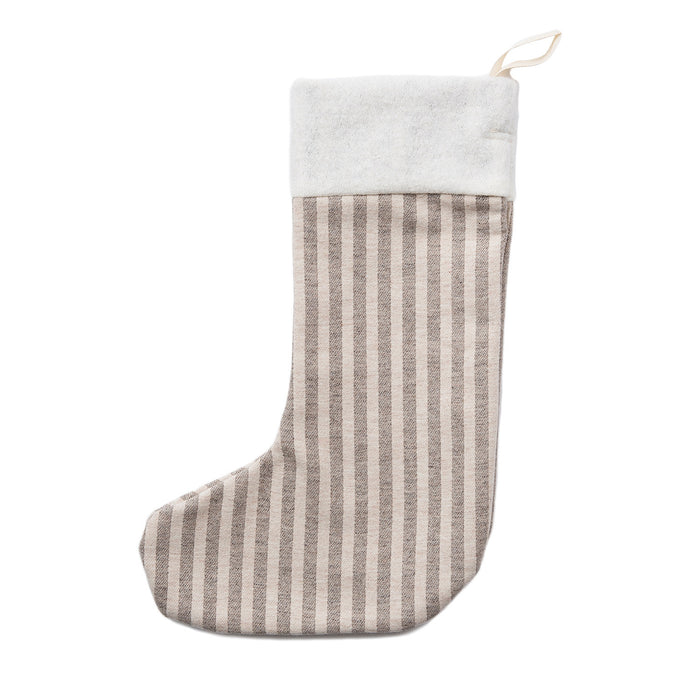 Merino Lambswool Christmas Stocking | Harbour Stripe