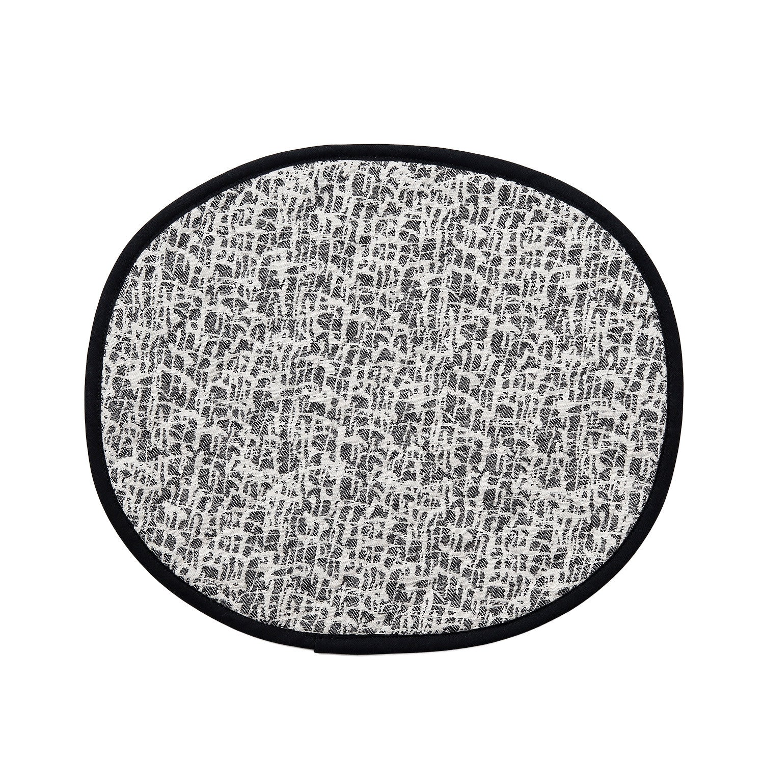 Boulder Placemat Black Ecru | Luxury Quilted Placemats