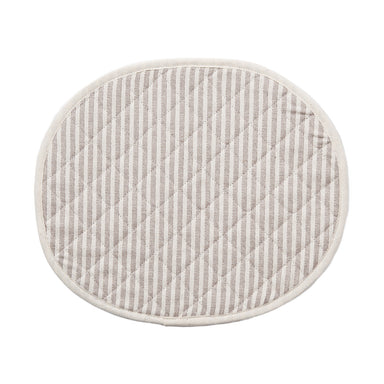 Harbour Stripe Placemat Fawn Ecru | Luxury Quilted Placemats