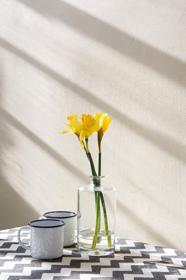 Chevy Cotton Table Cloth - Black and Linen
