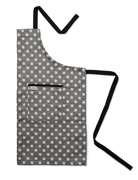 Dotty Spot Apron Black