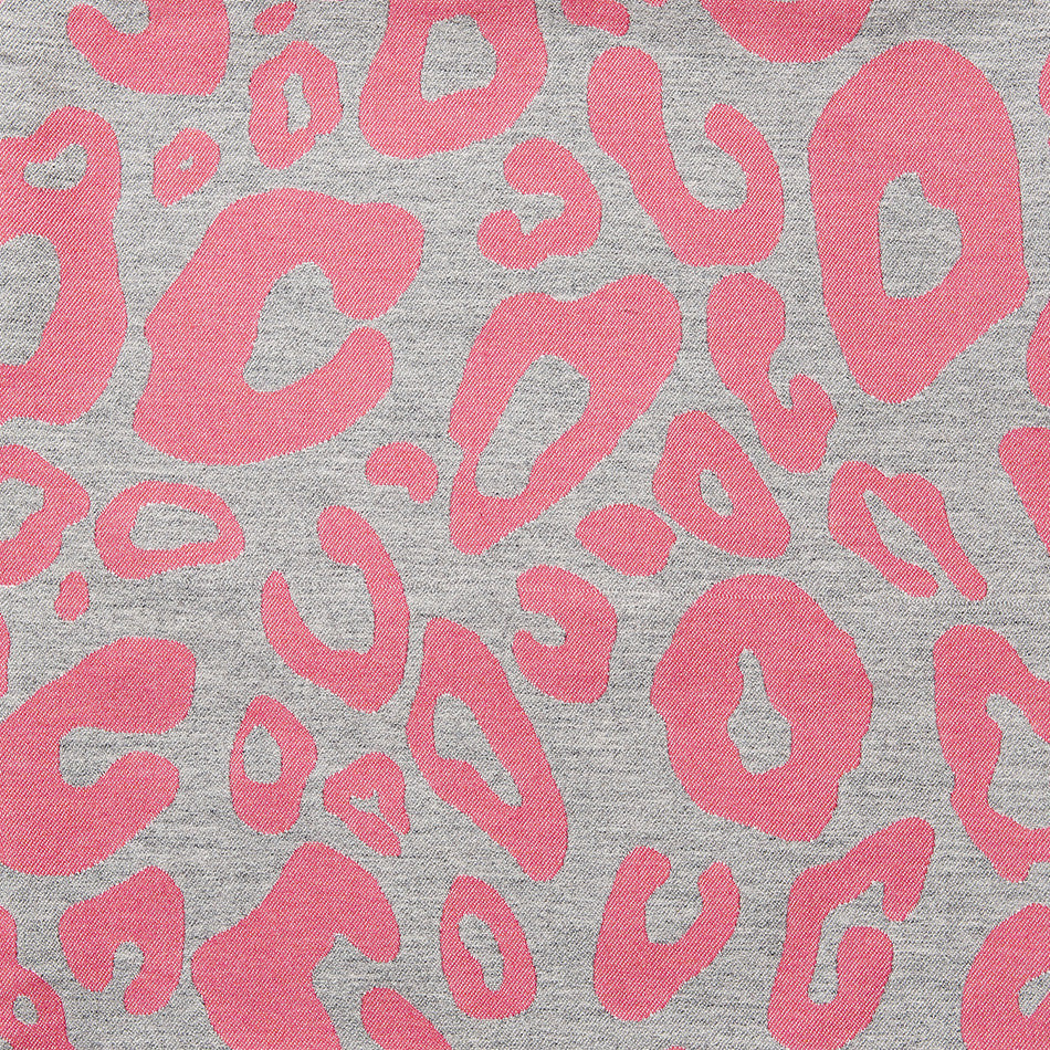Merino Lambswool Fabric – Large Hamilton Spot Grey and Hot Pink fabric-Tori Murphy Ltd