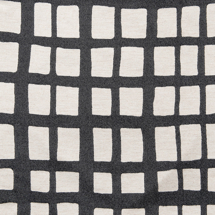 Merino Lambswool Fabric – Kensal Check Black and Linen fabric-Tori Murphy Ltd