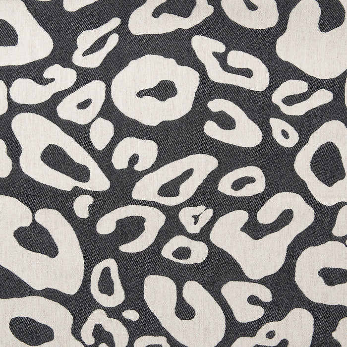 Merino Lambswool Fabric – Large Hamilton Spot Black and Linen fabric-Tori Murphy Ltd
