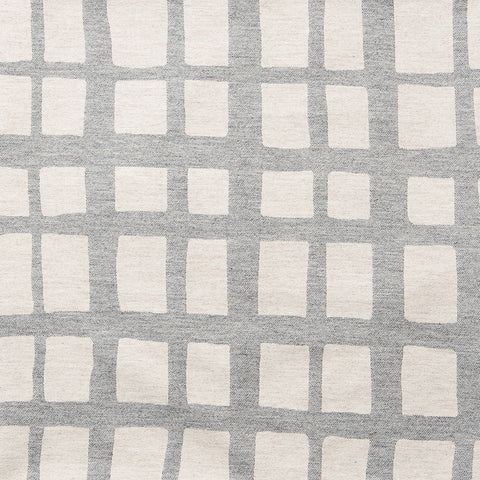 Merino Lambswool Fabric – Kensal Check Grey and Linen fabric-Tori Murphy Ltd