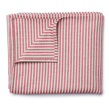 Harbour Stripe Table Cloth Claret