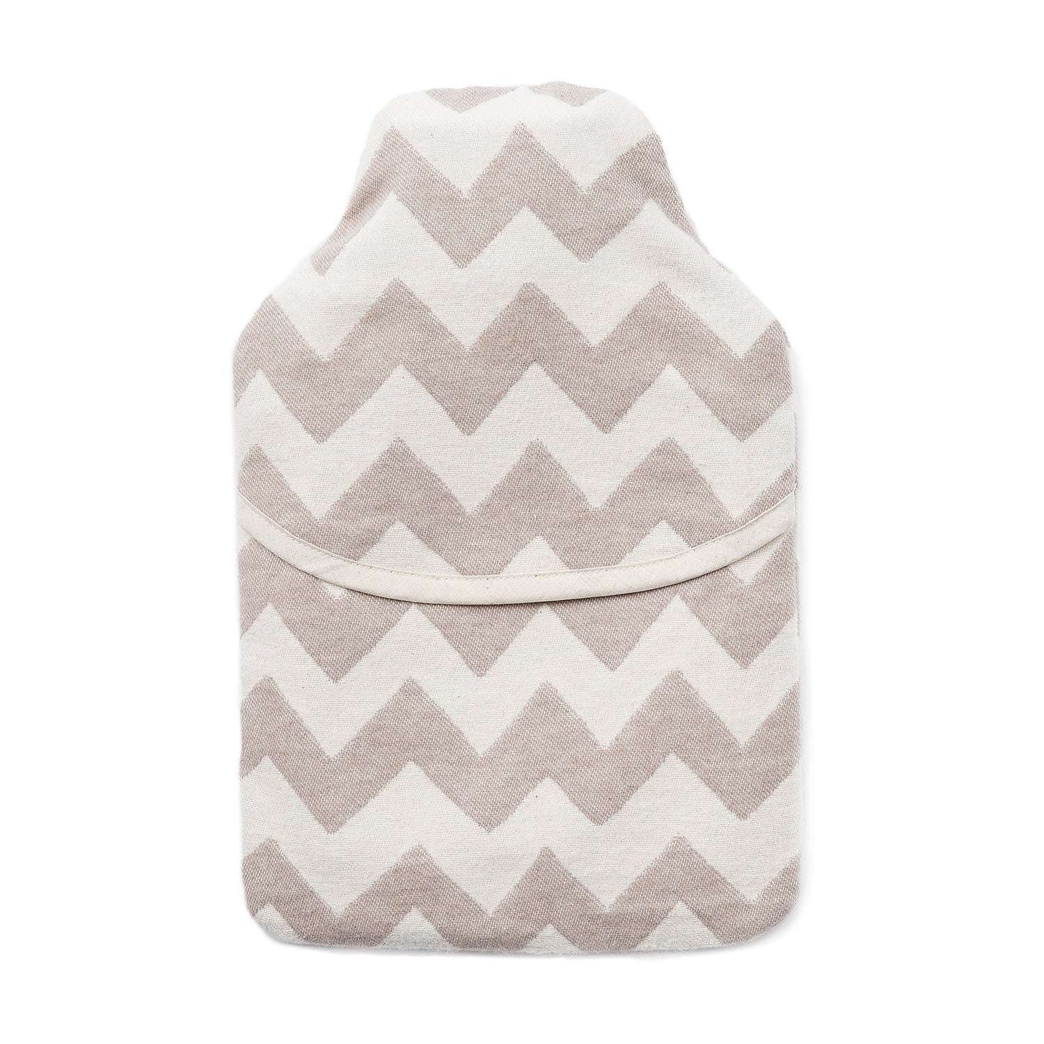 Brushed Cotton Hot Water Bottle | Chevy Fawn/Linen