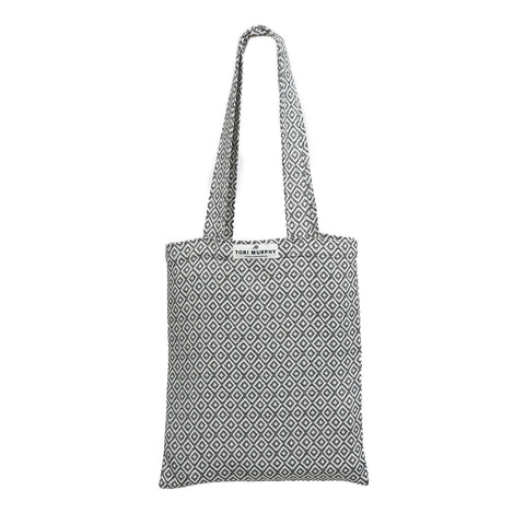 Market Tote Bag-Black and Linen | Tori Murphy
