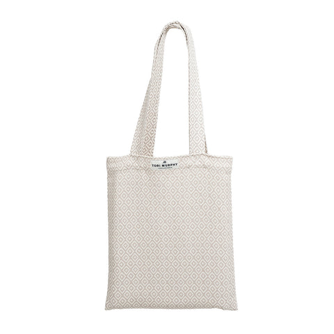 Broadway Cotton Market Bag - Linen on Fawn