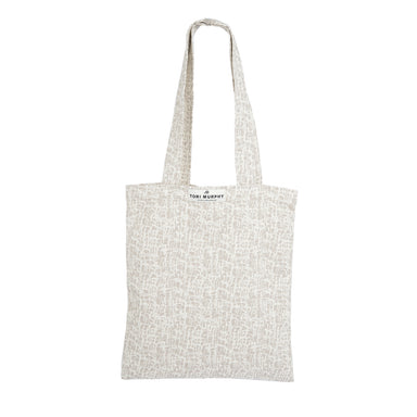 Market Tote Bag-Linen on Fawn | Tori Murphy