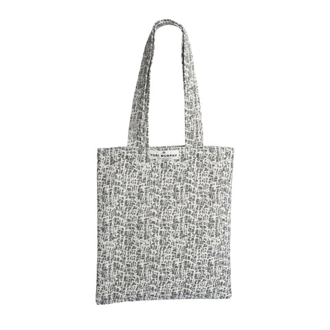 Market Tote Bag-Ecru on Black | Tori Murphy