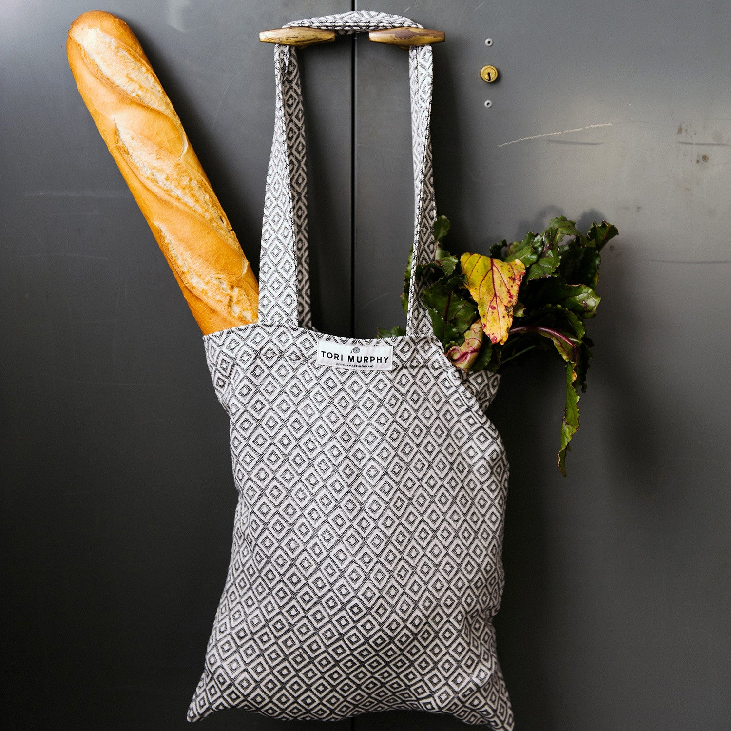 Boulder Cotton Market Bag - Linen on Fawn