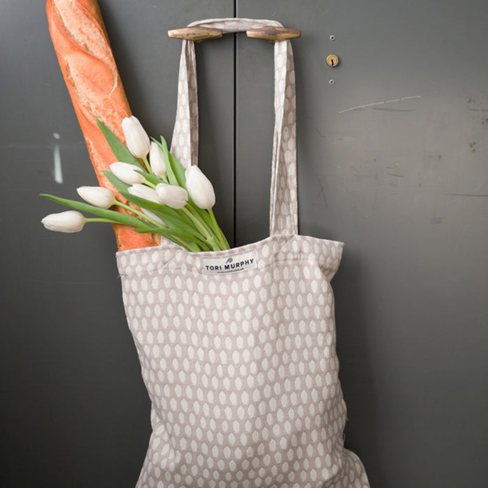Broadway Cotton Market Bag - Fawn on Linen