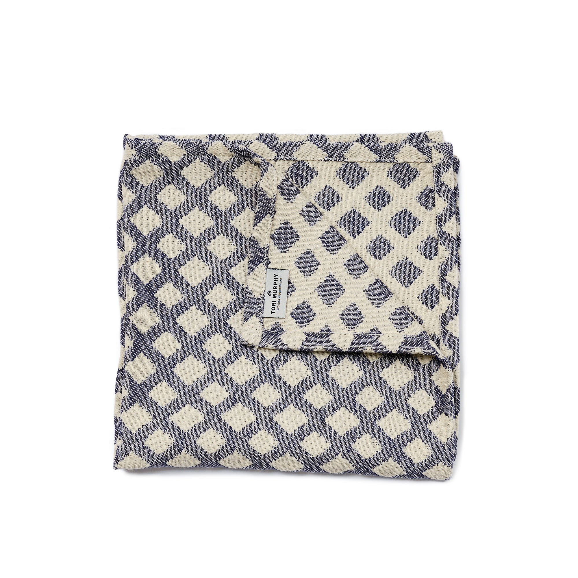 Cadogan Check Single Napkin Navy