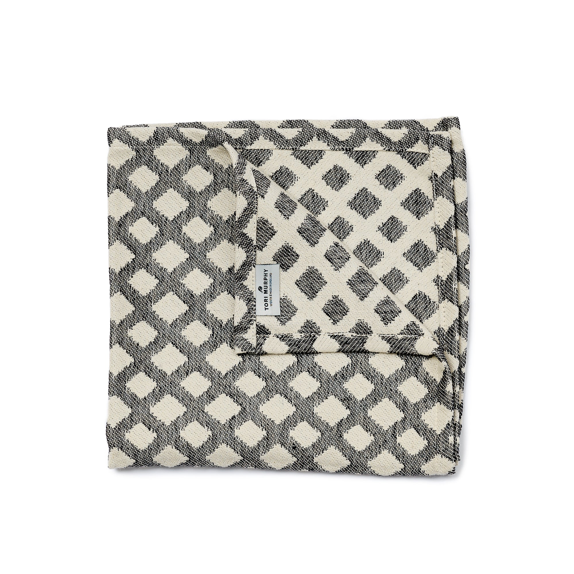 Cadogan Check Single Napkin Black