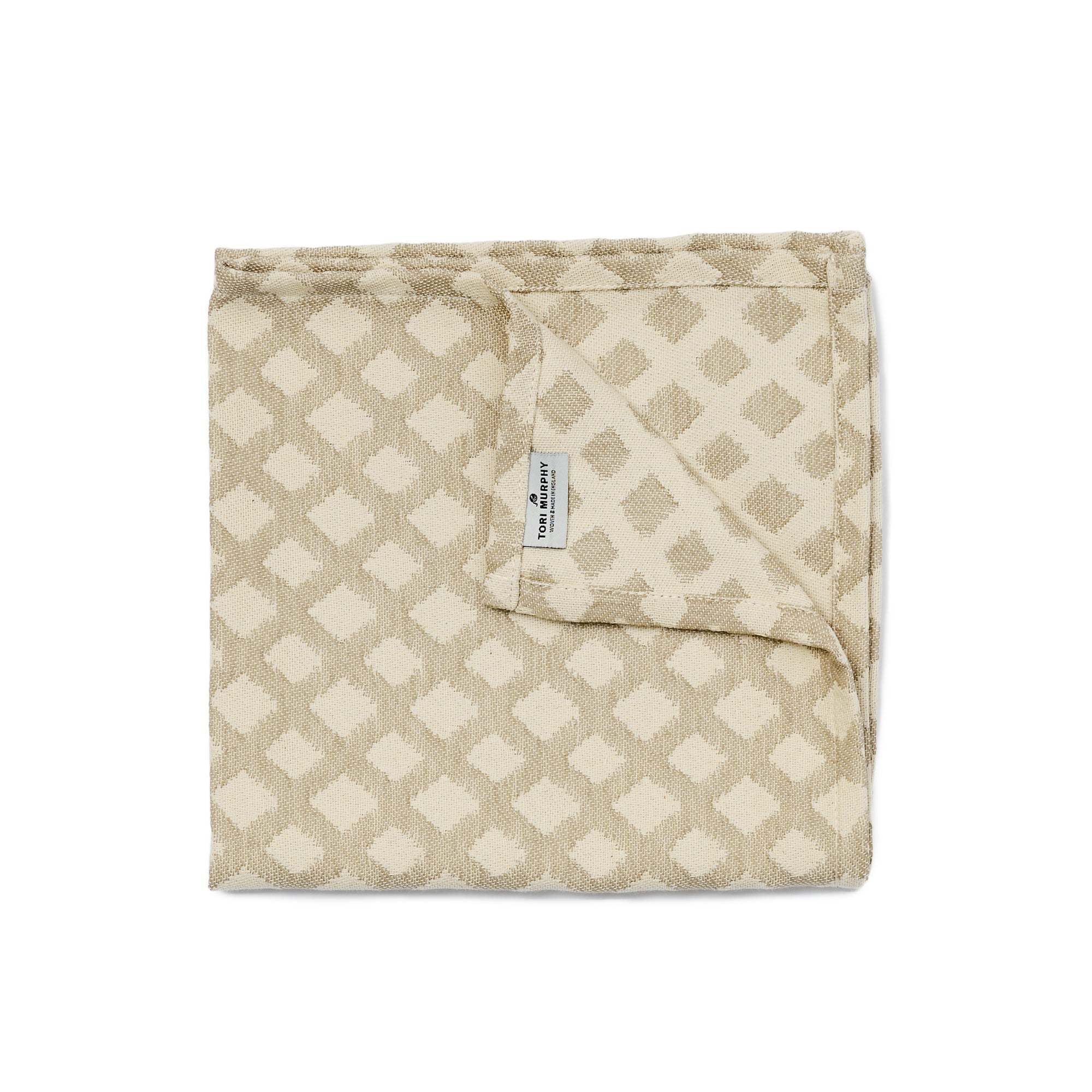Cadogan Check Single Napkin Mushroom