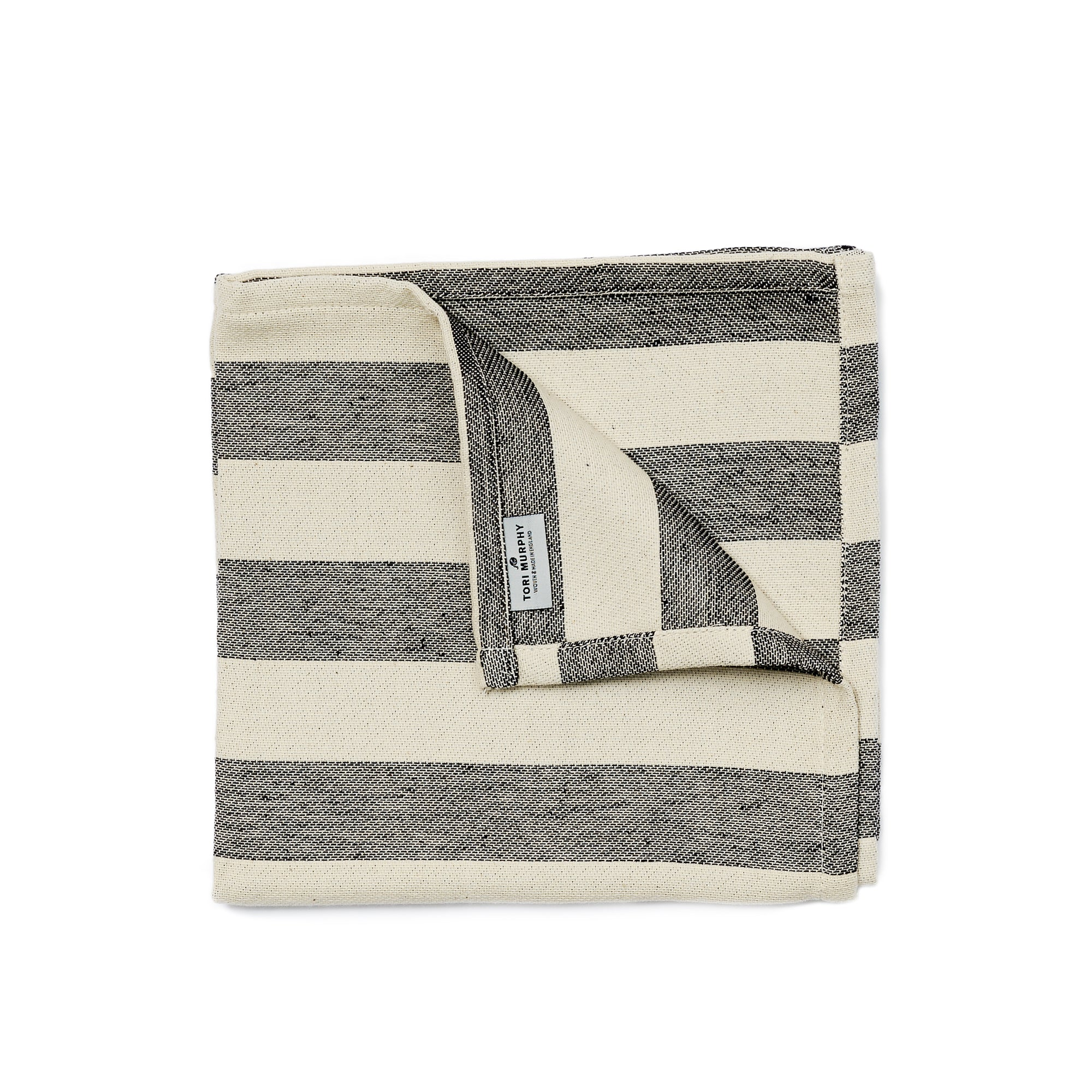 Fastnet Stripe Single Napkin Black