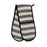 Fastnet Stripe Double Oven Glove Black