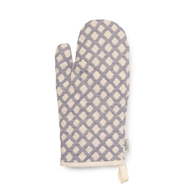 Cadogan Check Oven Glove Navy