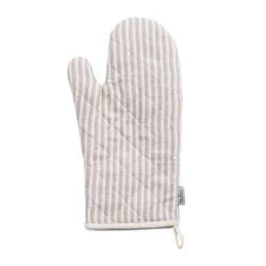 Harbour Stripe Oven Glove Fawn & Ecru | Designer Oven Mitts