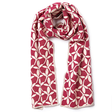 Little Cress Reversible Merino Wool Scarf Raspberry