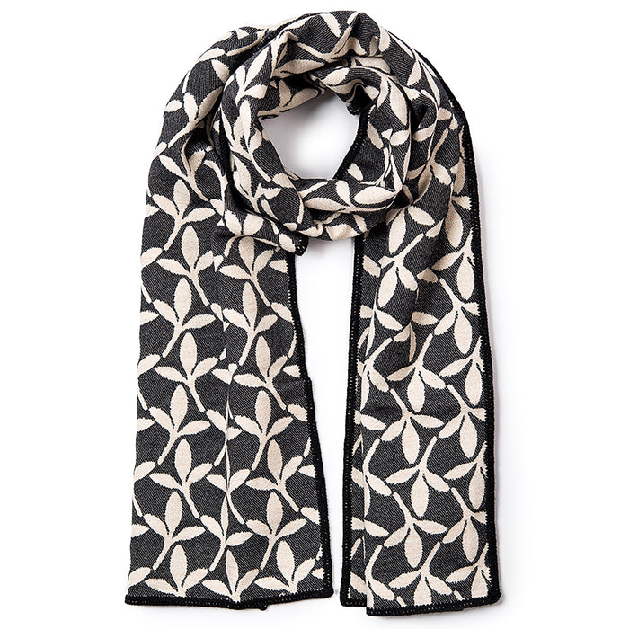 Little Cress Reversible Merino Wool Scarf Black