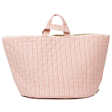 Scallop Stripe Storage Basket Rose