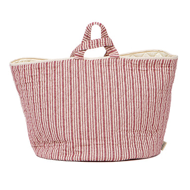 Scallop Stripe Storage Basket Claret