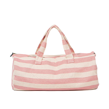 Fastnet Stripe Duffel Bag in Rose