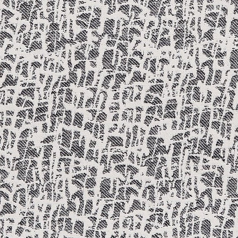 Boulder Cotton Fabric Black and Ecru