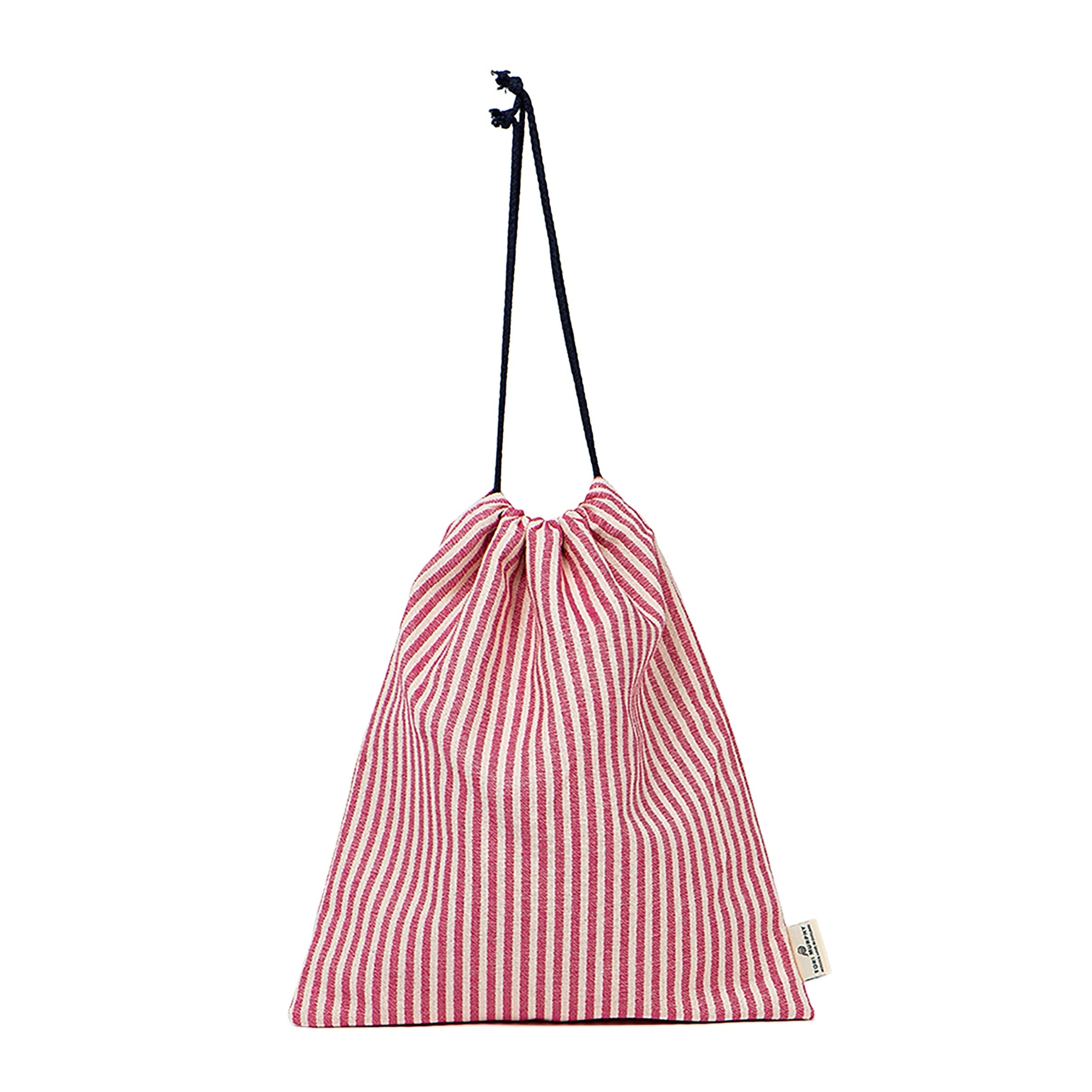 Harbour Stripe Gym Bag in Radish