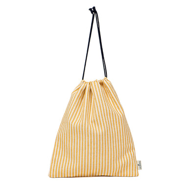 Harbour Stripe Gym Bag in Mustard
