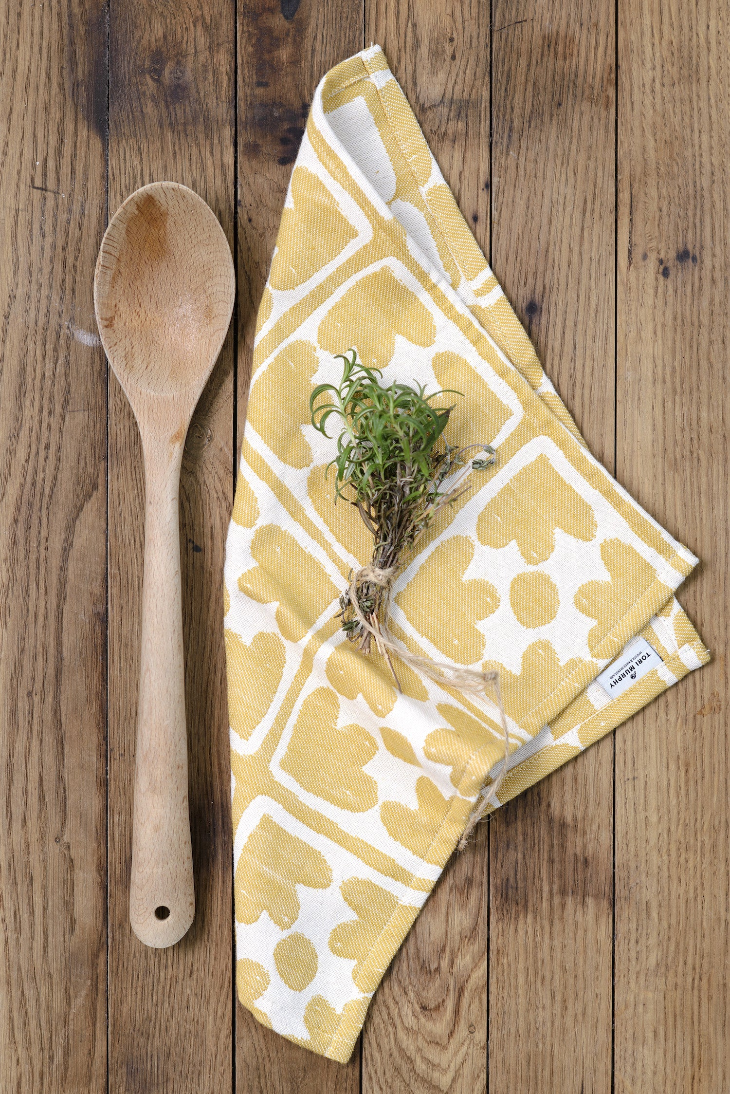 Bloom Single Napkin Mustard