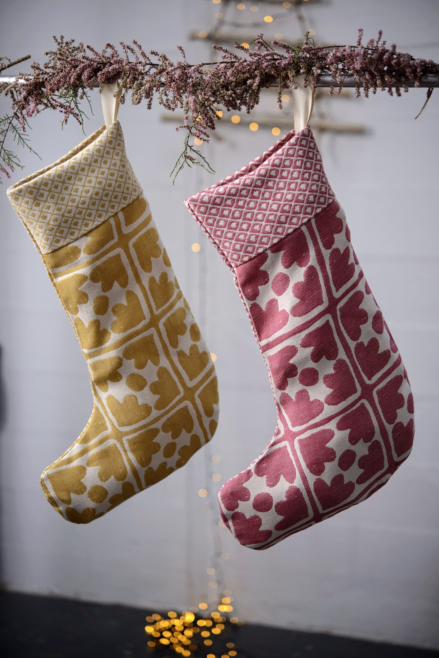 Seedling & Bloom Christmas Stocking Mustard