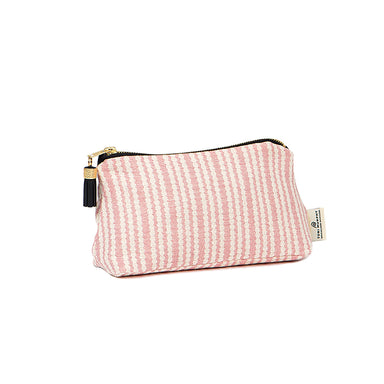 Scallop Stripe Small Wash Bag Rose