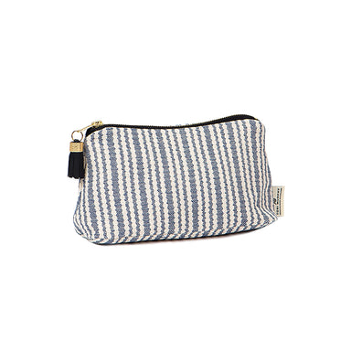 Scallop Stripe Small Wash Bag Navy