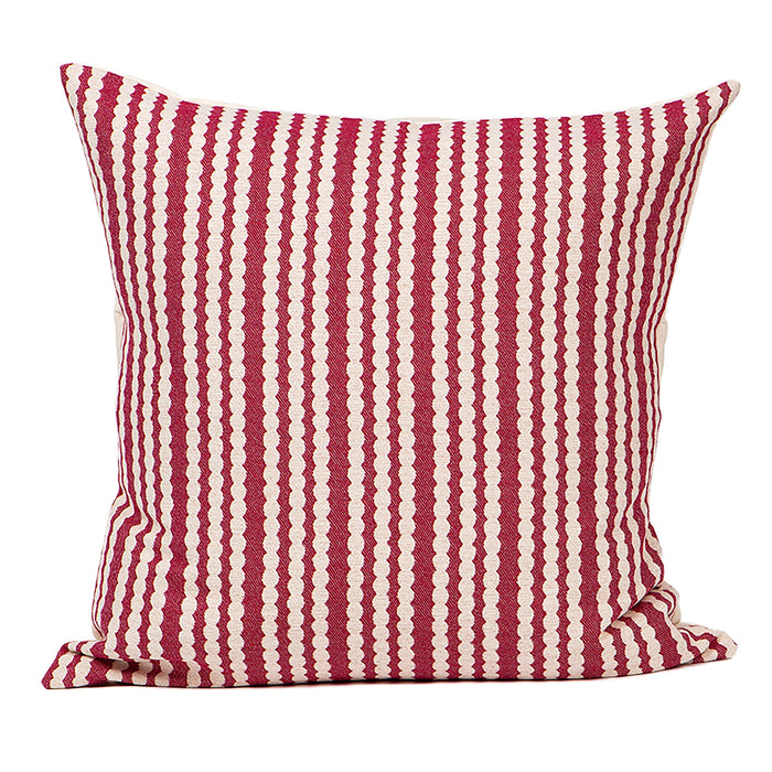 Scallop Stripe Cushion Raspberry