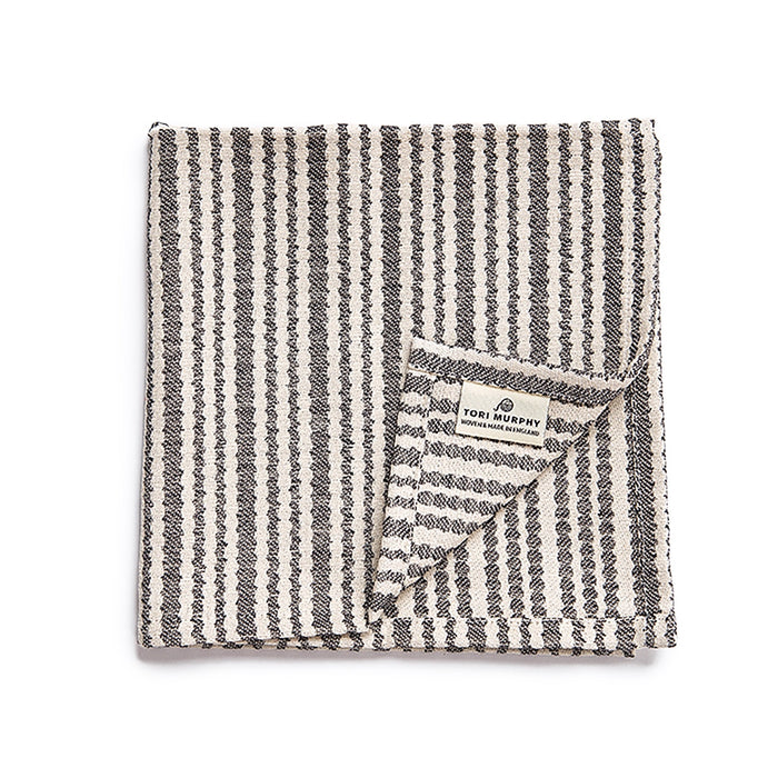 Scallop Stripe Napkin set of 4, Black