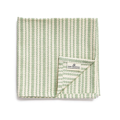 Scallop Stripe Napkin set of 4, Olive