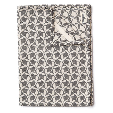 Little Cress Tea Towel Black