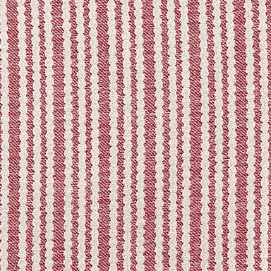 Scallop Stripe Cotton Fabric Claret