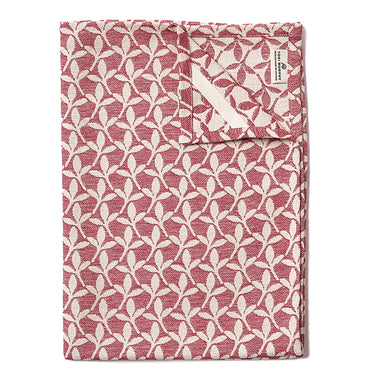 Little Cress Tea Towel Claret