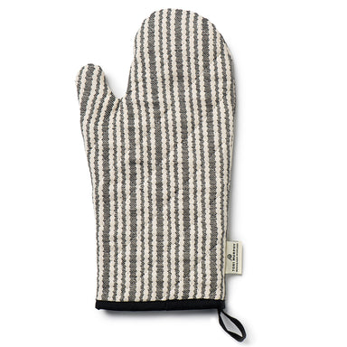 Scallop Stripe Oven Glove Black