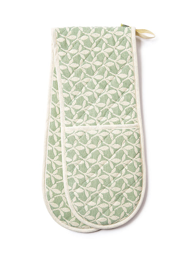 Little Cress Double Oven Glove Olive