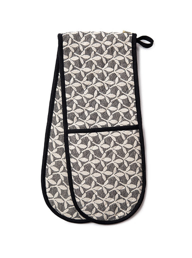 Little Cress Double Oven Glove Black